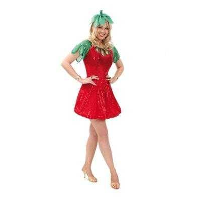 Aardbeien Carnavals jurkje dames