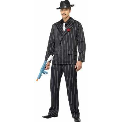 Al capone feest outfit zwart heren