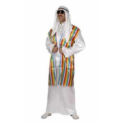 Arabisch feest outfit regenboog vest volwassenen