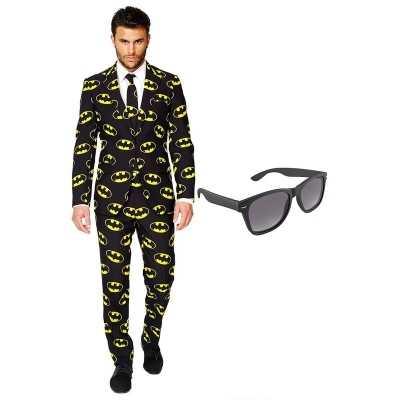 Batman heren feest outfit maat 56 (xxxl) gratis zonnebril