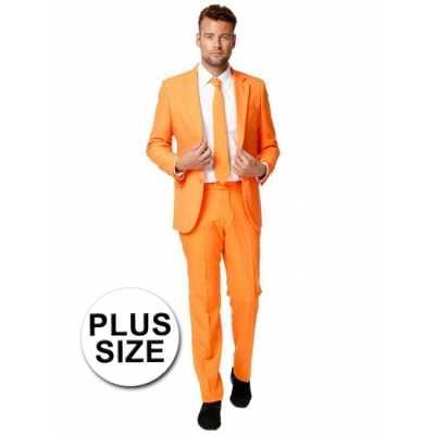 Big size business outfit oranje
