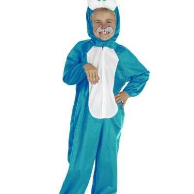Blauw konijnen feest outfit kinderen
