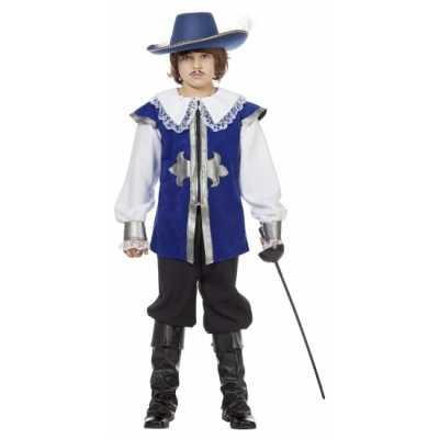 Blauw musketier outfit kinderen