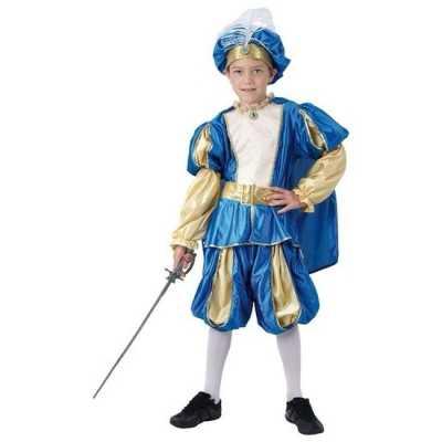 Blauw prinsen feest outfit jongens
