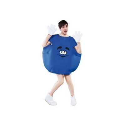 Blauw snoep outfit volwassenen