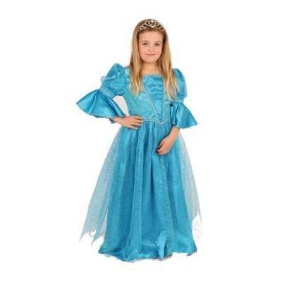Blauwe prinses feest outfit meisjes