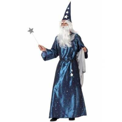 Blauwe tovenaars outfit