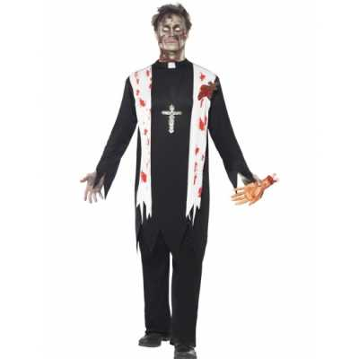 Bloederige horror priester feest outfit