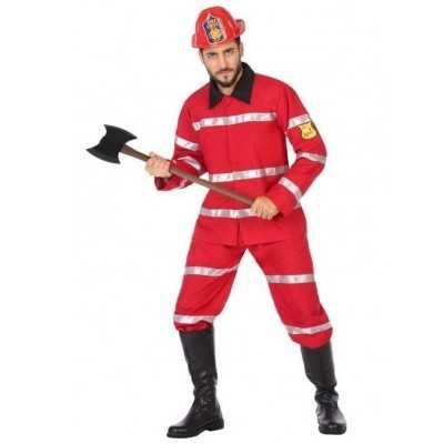 Brandweerman verkleed feest outfit heren