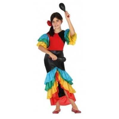 Braziliaanse samba rumba danseres verkleed feest outfitvoor meisjes