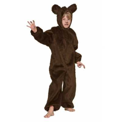 Bruin beren outfit kinderen
