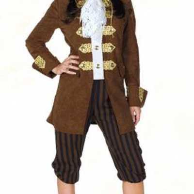 Bruin dames piratenpak