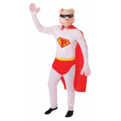 Carnaval super varken jumpsuit masker