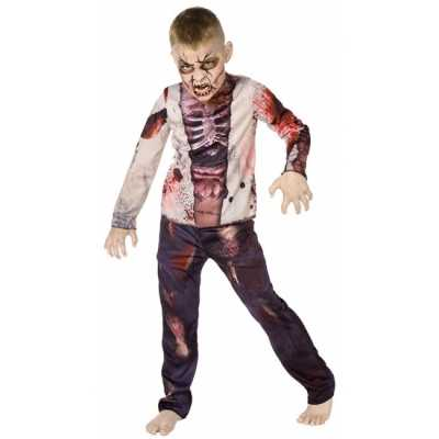 Carnaval zombie feest outfit kinderen