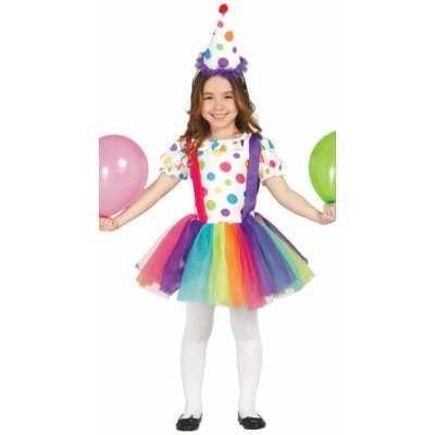 Carnavalskleding clownsjurk kinderen