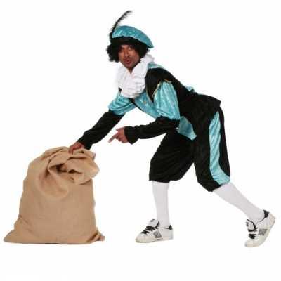 Carnavalskostuum Blauwe zwarte pieten feest outfit budget