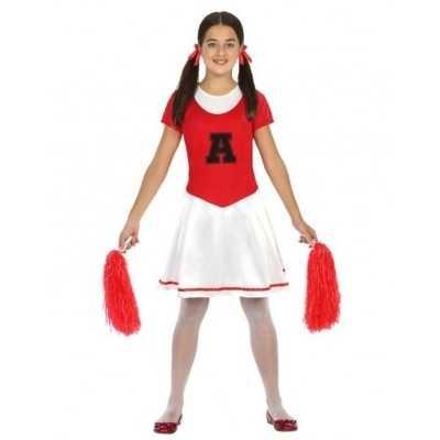 Cheerleader jurk/jurkje verkleed feest outfit meisjes