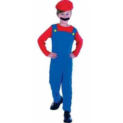 Complete Loodgieter Mario outfit kinderen