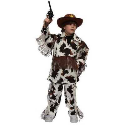 Cowboy feest outfit koeienprint kinderen
