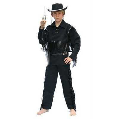 Cowboy feest outfit zwart kinderen