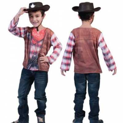 Cowboy t-shirt kids