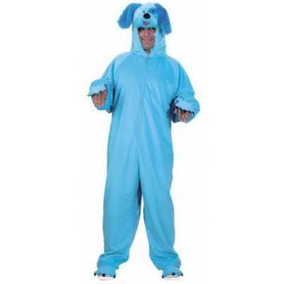 Dieren feest outfit blauwe hond volwassenen