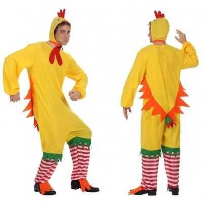 Dierenpak kip haan kuiken verkleed feest outfit volwassenen