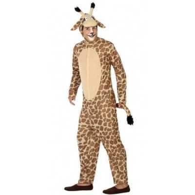 Dierenpak verkleed feest outfit giraffe volwassenen