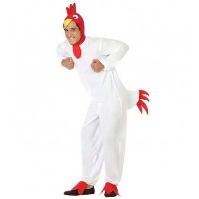 Dierenpak verkleed feest outfit kip/haan volwassenen