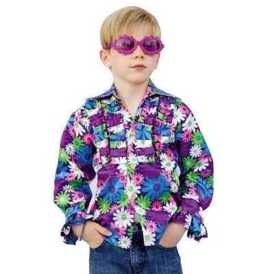 Disco bloemen blouse kids