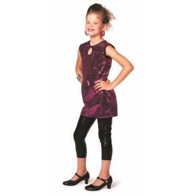 Disco jurkje paars meisjes