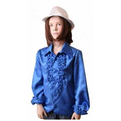 Disco shirt kobaltblauw meisjes