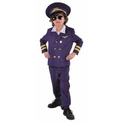Donkerblauw piloten outfit kids