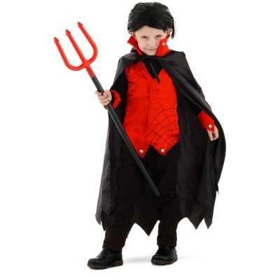 Dracula/vampier verkleed feest outfit cape kinderen