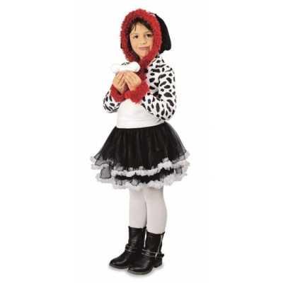 Feest dalmatier hond verkleedoutfit meisjes