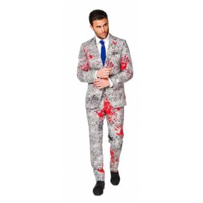 Feest feest outfit Zombie bloedhanden print