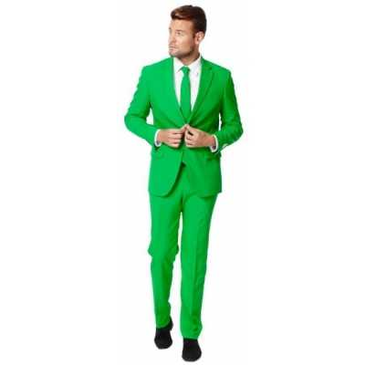 Fel groen feest outfit outfit heren