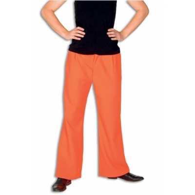 Fel oranje broek heren