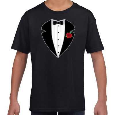 Gangster maffia outfit feest outfit t-shirt zwart kinderen