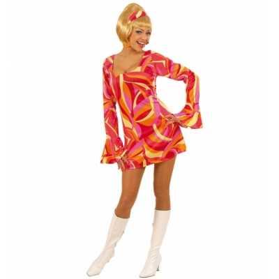 Gekleurd dames jurk jaren 70