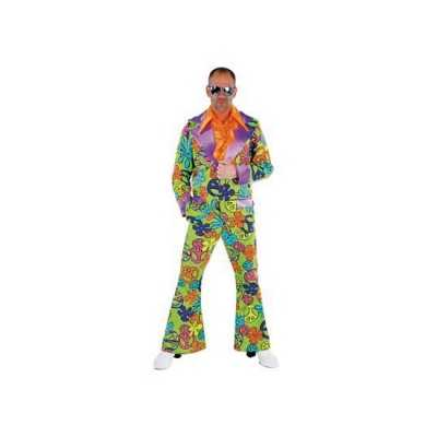 Gekleurd jaren zeventig feest outfit
