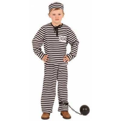 Gestreept gevangene feest outfit kinderen