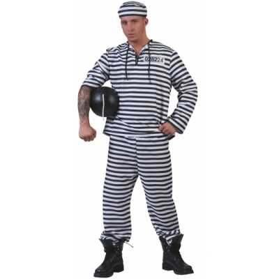 Gevangenen outfit gestreept pet
