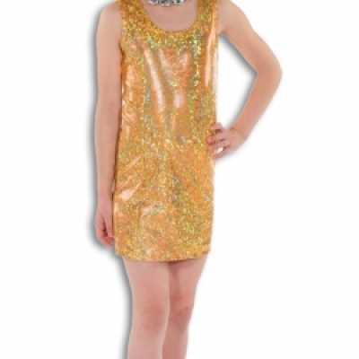 Gouden glamour jurk meisjes