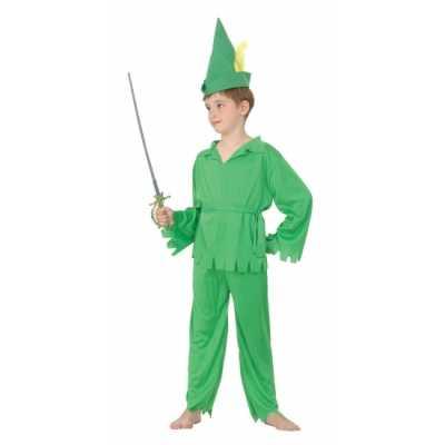 Groen elfjes feest outfit jongens