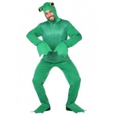 Groene kikker dieren verkleedpak volwassenen