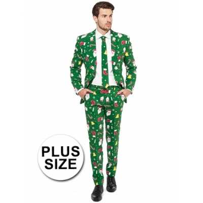 Groot feest feest outfit kerstmis print groen