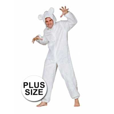 Groot ijsberen outfitje volwassenen