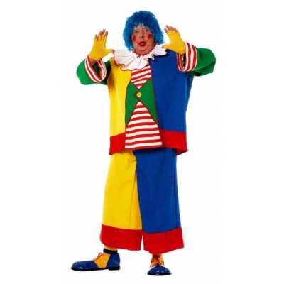 Grote maat clowns verkleedkleding heren