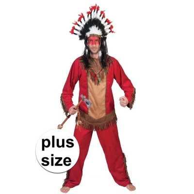 Grote maat indiaan lootah verkleed feest outfit heren